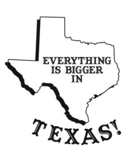 Everything is bigger in Texas  Parking Sign
