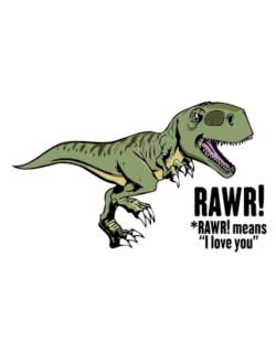 Rawr means I Love You in dinosaur Parking Sign