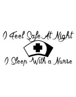 Parking Sign de I Feel Safe At Night I Sleep With a Nurse