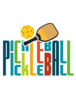 Pickleball fan Parking Sign