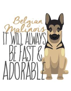 Parking Sign de It will always be fast & adorable Belgian malinois