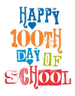 Happy 100th day of school cool style Parking Sign