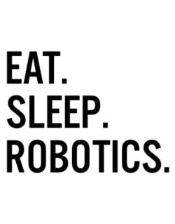 Eat sleep robotics Parking Sign