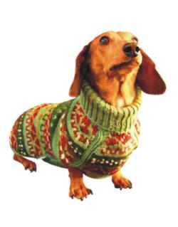 Dachshund christmas sweater Parking Sign