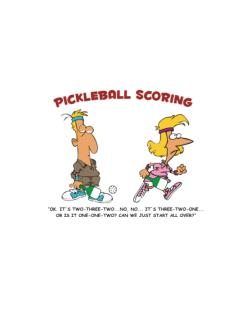 Pickleball Scoring Street Sign