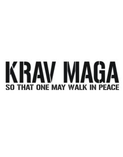 Krav Maga Walk in peace Street Sign