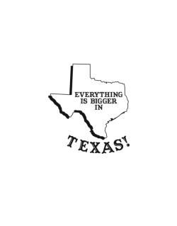 Everything is bigger in Texas  Street Sign