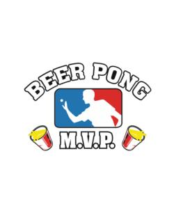 Beer Pong MVP Street Sign