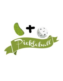 Pickle plus ball equals pickleball Street Sign
