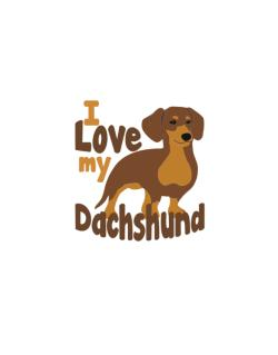 Street Sign de I love my dachshund