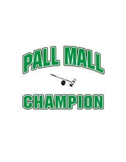 Pall Mall champion Street Sign
