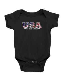Usa Aerobatics / Flag Clip - Army Baby Bodysuit