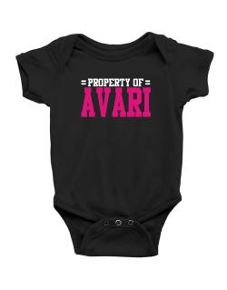 Property Of Avari Baby Bodysuit