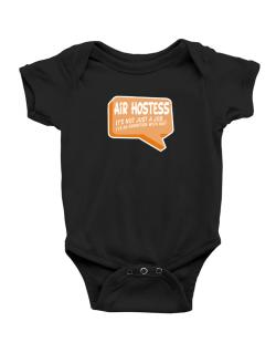 """"""" Air Hostess """"  Adventure with pay Baby Bodysuit"""