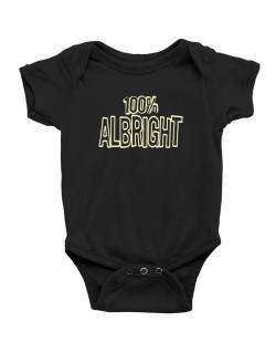 100% Albright Baby Bodysuit