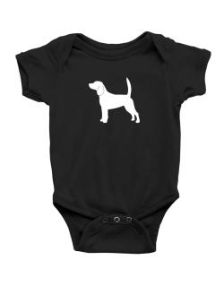 Beagle Silhouette Embroidery Baby Bodysuit