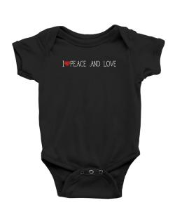 I love Peace And Love cool style Baby Bodysuit