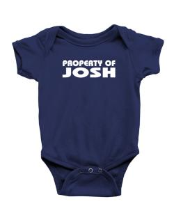 "Enterizo de Bebé de "" Property of Josh """
