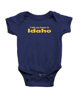 I Left My Heart In Idaho Baby Bodysuit