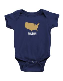Polson - Usa Map Baby Bodysuit