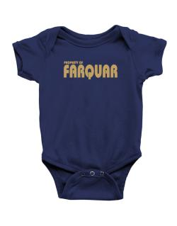 Property Of Farquar Baby Bodysuit