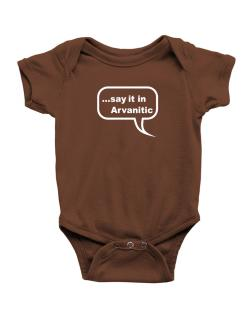 Say It In Arvanitic Baby Bodysuit