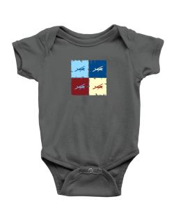 """ Aerobatics - Pop art "" Baby Bodysuit"