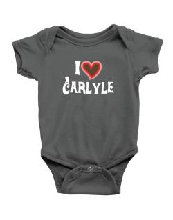 I Love Carlyle Baby Bodysuit