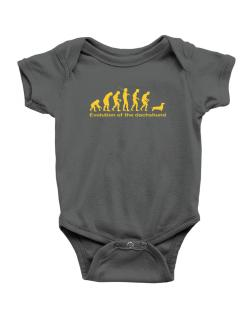 Evolution Of The Dachshund Baby Bodysuit