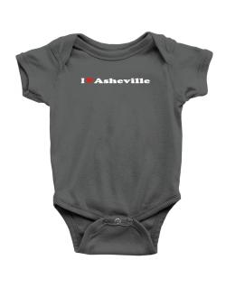 I Love Asheville Baby Bodysuit