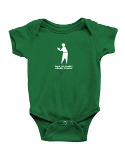 Save The Planet Learn Polish Baby Bodysuit