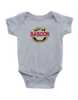 Only My Baboon Understands Me Baby Bodysuit