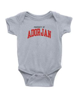 Property Of Adorjan Baby Bodysuit