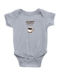 Instant Computer Programmer, just add coffee Baby Bodysuit