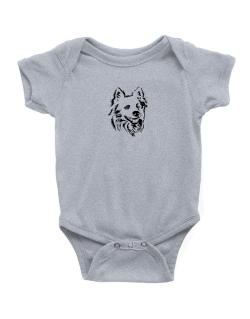 """ Australian Cattle Dog FACE SPECIAL GRAPHIC "" Baby Bodysuit"