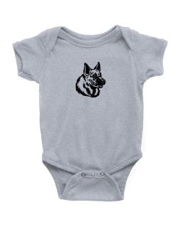 """ Belgian Malinois FACE SPECIAL GRAPHIC "" Baby Bodysuit"