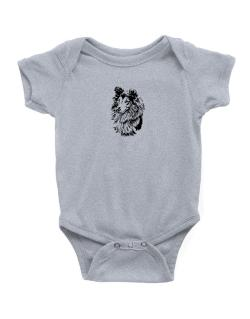 Shetland Sheepdog Face Special Graphic Baby Bodysuit