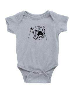 American Bulldog Face Special Graphic Baby Bodysuit