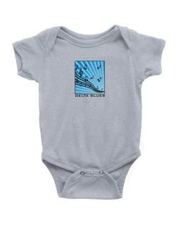 Delta Blues - Musical Notes Baby Bodysuit