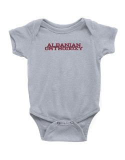 Albanian Orthodoxy - Simple Athletic Baby Bodysuit