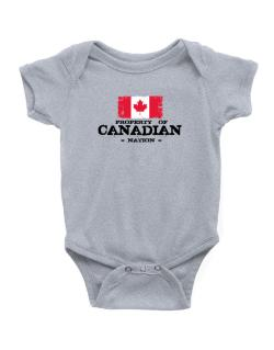Property of Canadian Nation Baby Bodysuit
