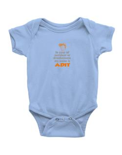 In Case Of Accident Or Drunkenness, My Name Is Adit Baby Bodysuit
