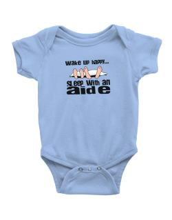 wake up happy .. sleep with a Aide Baby Bodysuit