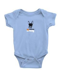 """ Fox Terrier MY BEST FRIEND - URBAN STYLE "" Baby Bodysuit"