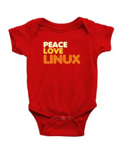 Peace Love Linux Baby Bodysuit