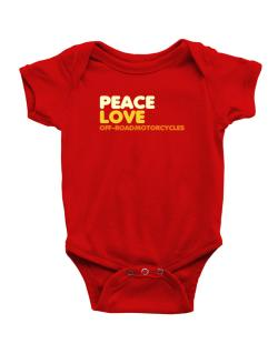 Peace Love Off Road Motorcycles Baby Bodysuit