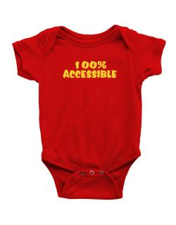 100% Accessible Baby Bodysuit