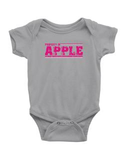 Property Of Apple - Vintage Baby Bodysuit