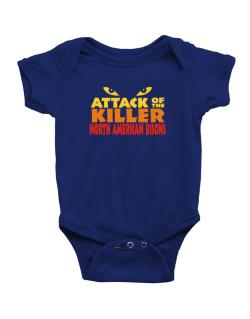 Attack Of The Killer North American Bisons Baby Bodysuit