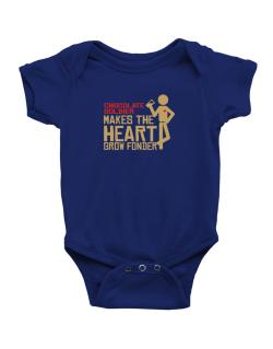 Chocolate Soldier Makes The Heart Grow Fonder Baby Bodysuit